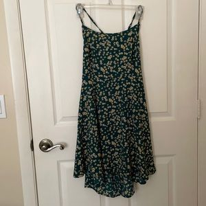 SHEIN | lace up backless ditsy floral cami dress